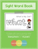 Sight Word Book - WHAT