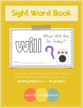 Sight Word Book (will)
