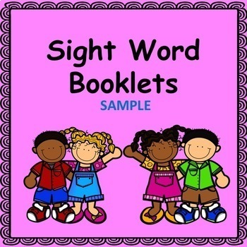 Sight Word Booklet Sample (Fry Word List)