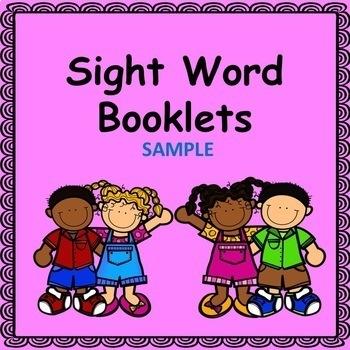 Sight Word Books Sample (Fry Word List)