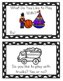 Sight Word Booklet- What Toys do you Like to Play With?