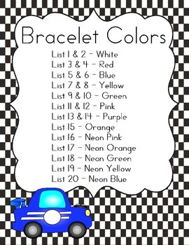 Sight Word Booklet and Bracelets