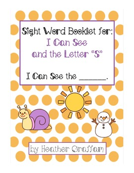 """Sight Word Booklet for """"I Can See The"""" (Letter """"S"""")"""