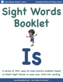 Sight Word Booklet with Short Vowels (Based on Dolch & Fry Word Lists) - 'IS'