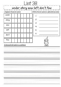Sight Word BookletA Alternative List 21-50