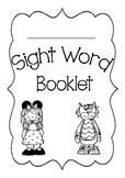 Sight Word BookletA List 1-19