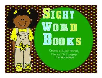 Sight Word Booklets- 1st 25 FRY words