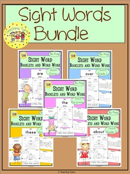 Sight Word Interactive Books and Word Work Dolch Sight Words