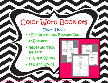 Sight Word Booklets -- Color Words