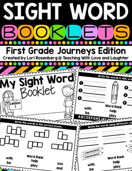 Sight Word Booklets {For Use With First Grade Journeys}