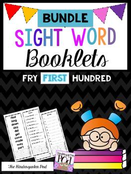 Sight Word Booklets - First Hundred BUNDLE