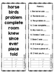 Sight Word Booklets - Fry FOURTH Hundred