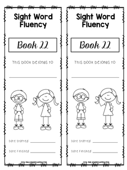 Sight Word Booklets - Fry THIRD Hundred Words
