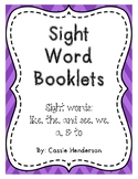 Sight Word Booklets, Journeys Unit 1-2