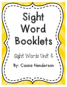 Sight Word Booklets, Journeys Unit 4