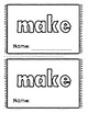 Sight Word Booklets, Journeys Unit 5