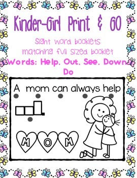 Sight Word Booklets, Print and Go....