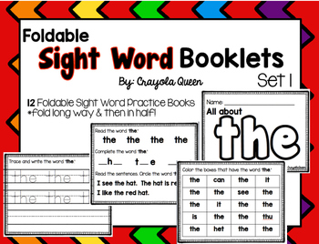 Sight Word Booklets: Set 1