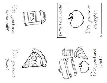 Kindergarten Sight Word Booklets - Set One