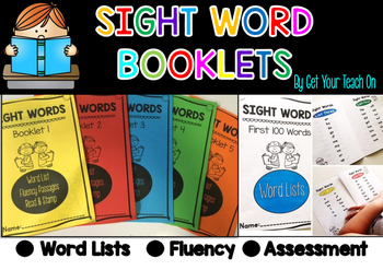Sight Word Booklets ~ Word Lists, Fluency, Assessment