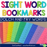Sight Word Bookmarks - Dolch & Fry
