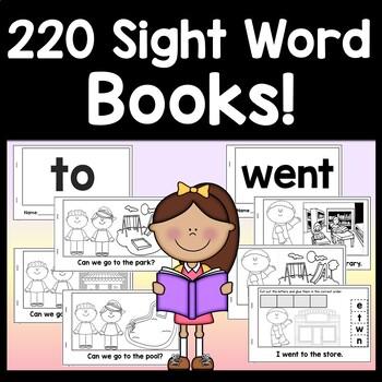 Sight Words Kindergarten Books {100 Emergent Readers!}