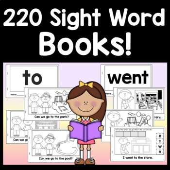 Sight Word Books for Fry Words Kindergarten {100 Sight Word Emergent Readers!}