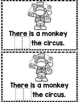 """Sight Word Books:  """"AT the Circus"""" Interactive reader"""