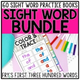Sight Word Books & Activities BUNDLE for Fry Words 1-300 EDITABLE