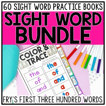 Sight Word Books & Activities BUNDLE for Fry Words 1-300 *