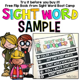 Sight Word Books & Activities Free Sample