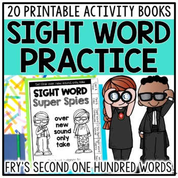 Sight Word Books & Activities for Fry Words 101-200