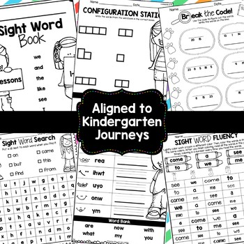 Sight Word Books {Aligned to Kindergarten Journeys} *50% off Growing Bundle!*