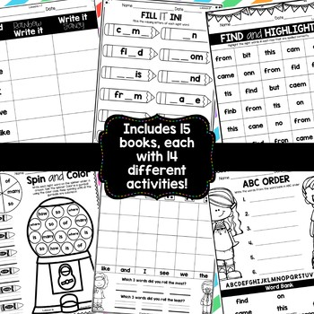 Sight Word Books {For Use With Kindergarten Journeys}