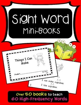 Sight Word Mini-Books (Aligned with Treasures)