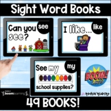 Sight Word Books BOOM Cards Distance Learning