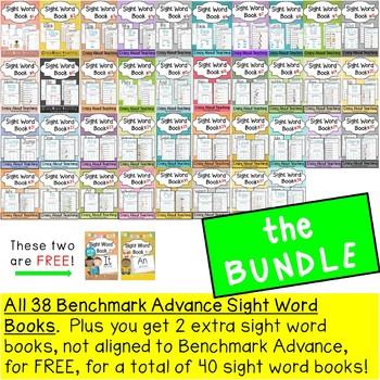 Sight Word Books Bundle (Benchmark Advance Kindergarten Series)