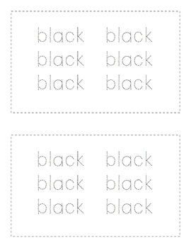 Sight Word Books - Color Words - BLACK