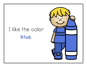 Sight Word Books - Color Words - BLUE