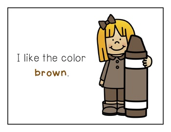 Sight Word Books - Color Words - BROWN