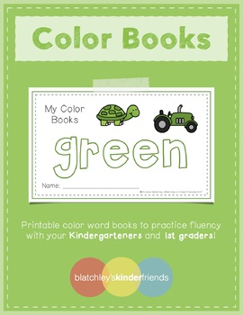 Sight Word Books - Color Words - GREEN