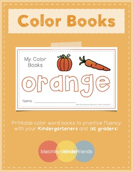 Sight Word Books - Color Words - ORANGE