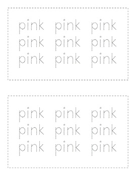 Sight Word Books - Color Words - PINK