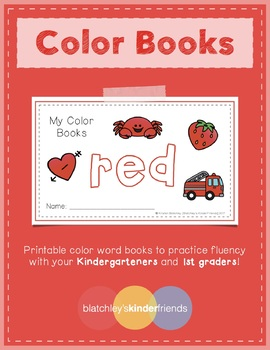 Sight Word Books - Color Words - RED
