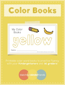 Sight Word Books - Color Words - YELLOW
