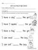 Sight Word Books: Companion Pages for Sight Word Books Set 6:was,do,of,what,said
