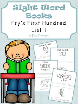 Sight Word Books ~ Fry's First Hundred List 1