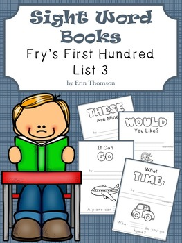 Sight Word Books ~ Fry's First Hundred List 3