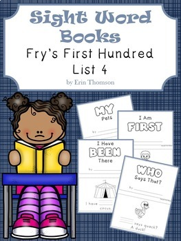 Sight Word Books ~ Fry's First Hundred List 4