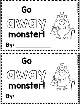 "Sight Word Books:  ""Go AWAY, Monster!?"" Interactive reader"